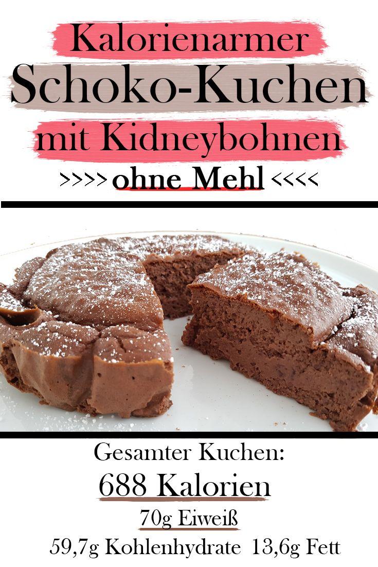 #Schokokuchen mit viel #Protein, wenig #Kalorien und ohne Mehl? Hier findest du das Rezept für einen gesunden und leckeren Schokokuchen mit Kidneybohnen. Und ja, das schmeckt! :) #ohneMehl #kalorienarm #kalorienarmerkuchen #leckerabnehmen #proteinreich #kuchenohnemehl