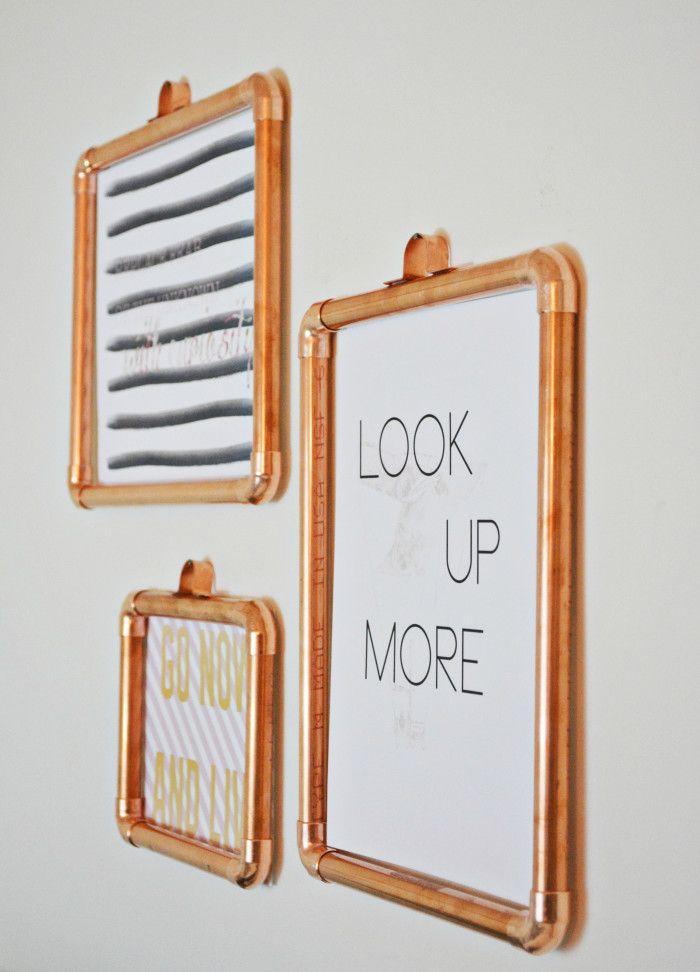 DIY Copper Frames | Pinterest | Copper frame, Joyful and Pipes