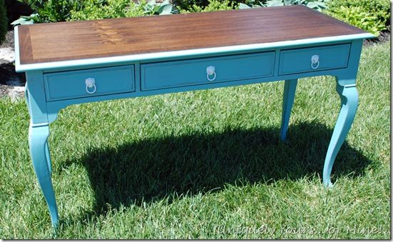 Beautiful painted desk in Provence chalk paint
