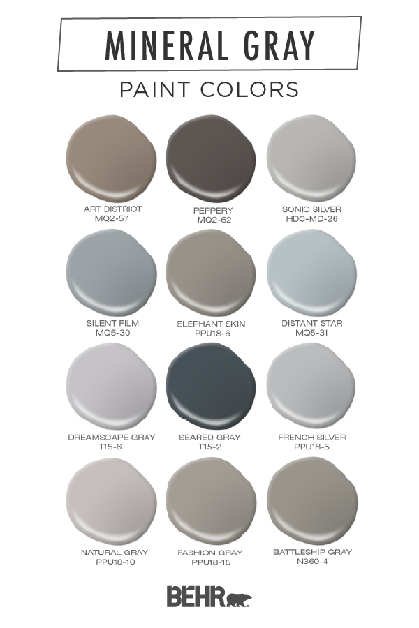 Mineral Grays Colorfully Behr Blog In 2020 Paint Colors For Home Grey Paint Colors House Paint Exterior