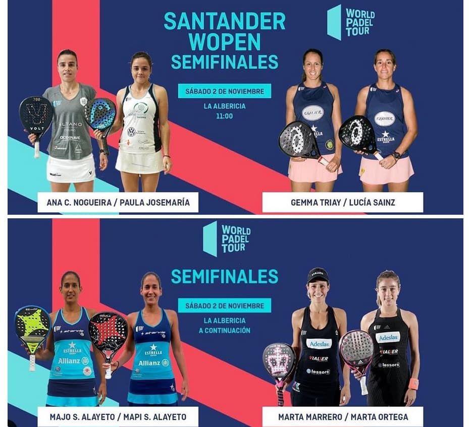 Semifinales Wopen Wpt Santander Femenino 2019 Padelstar Santander Padel Femenina