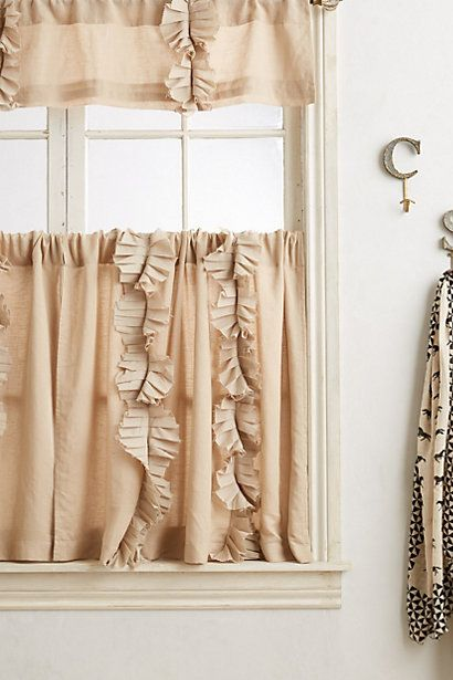 Flutter Cafe Curtain  #anthropologie