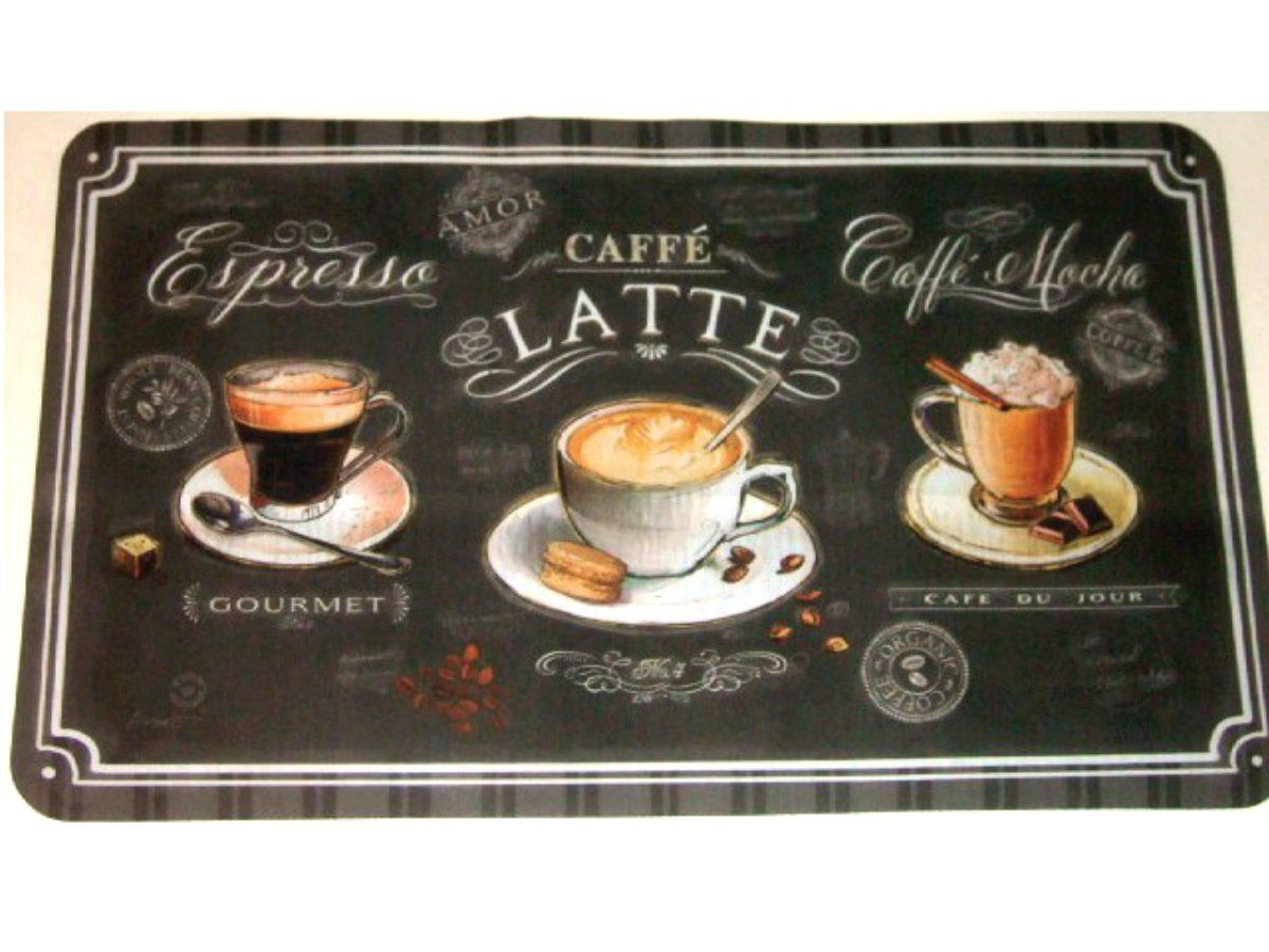 Coffee Rugs For Kitchen Wallpaper Kitchens Black Cups Rug Add A Sophisticated Touch To Your Themed With This That Features Of On Saucers The