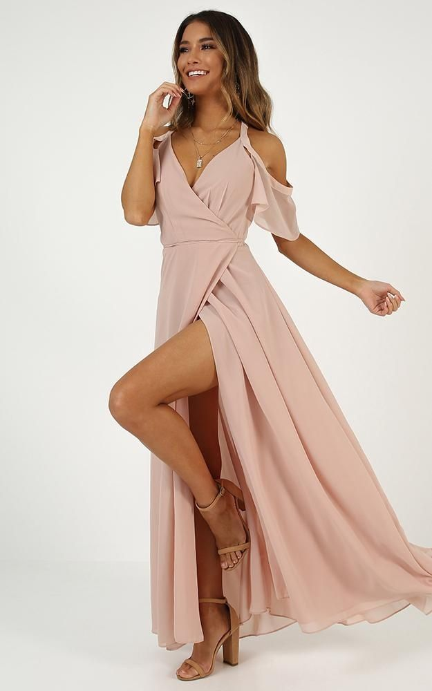 Give You My All Dress In Blush | Showpo