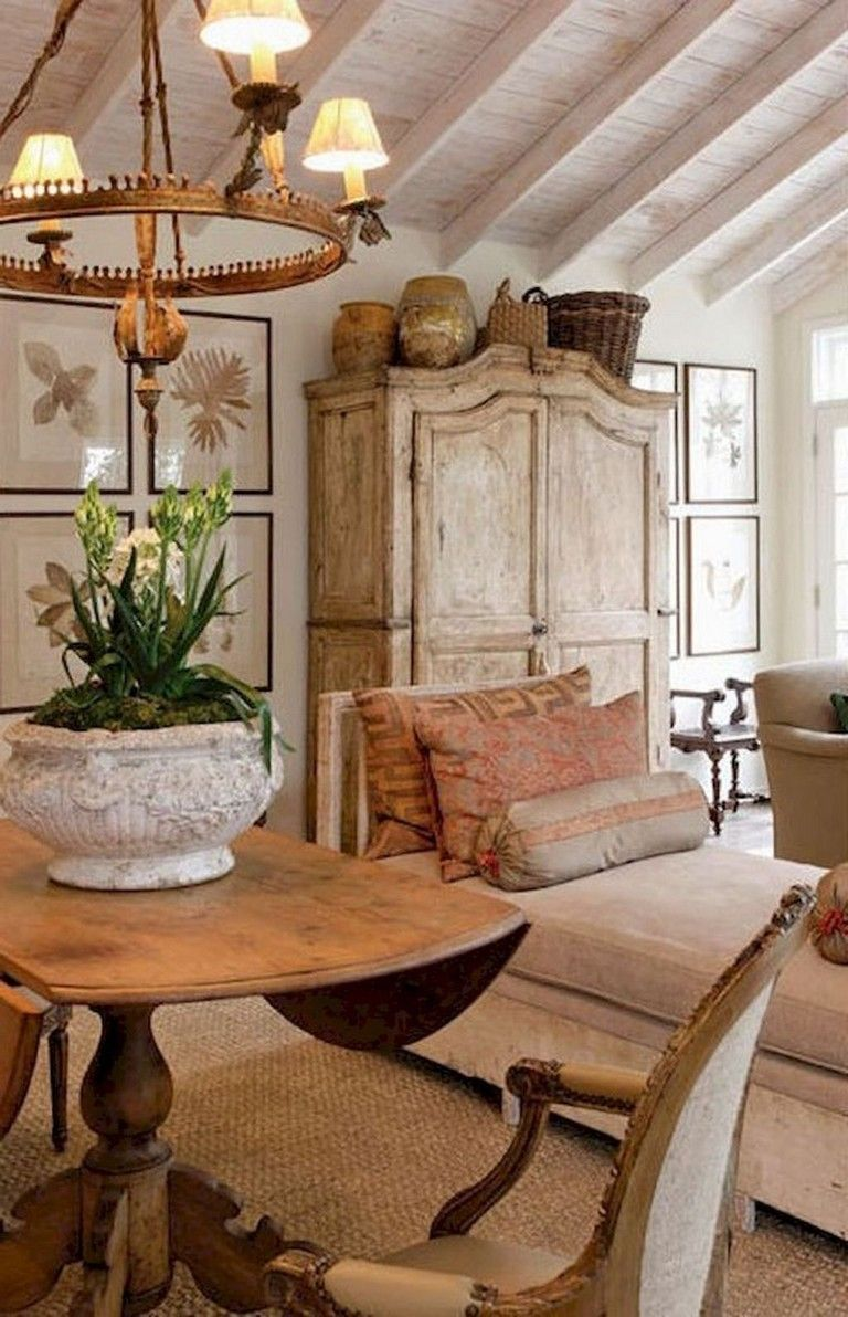 38+ Wonderful French Country Living Room Decor Ideas