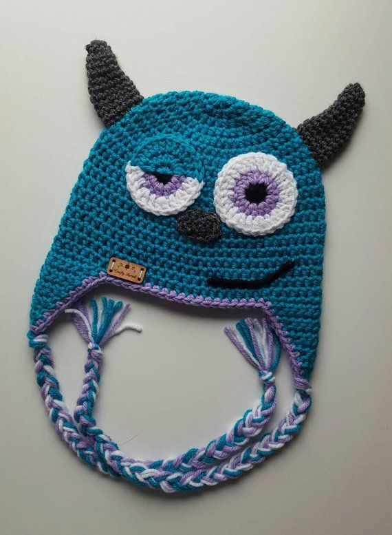 Sullivan - Tuque Monster Inc. | Bebe | Pinterest | Gorros, Patrones ...