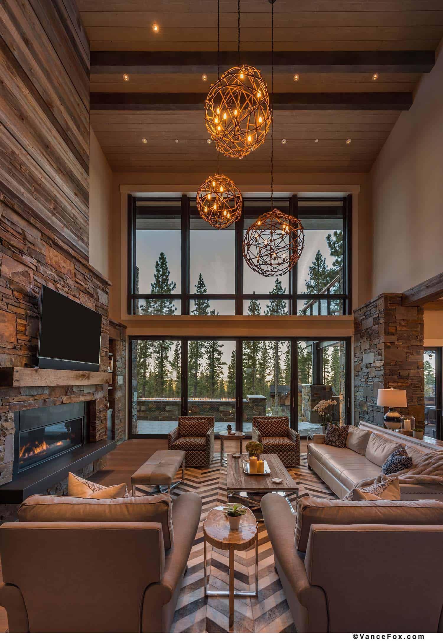 Brilliantly Designed Mountain Modern Cabin In California S High Sierra Modern Cabin Modern Cabin Interior Cabin Living Room