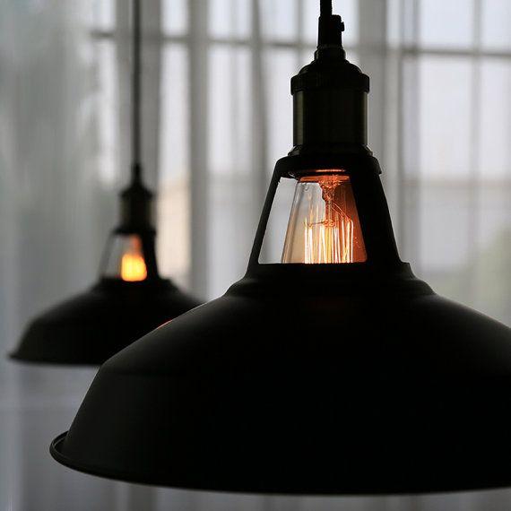 Acier luminaire Edison - pendentif lampe - plafonnier - suspension style  industriel Lampe - ampoule edison - - ligthing DIY set - 110V-250V 841a96bf7347