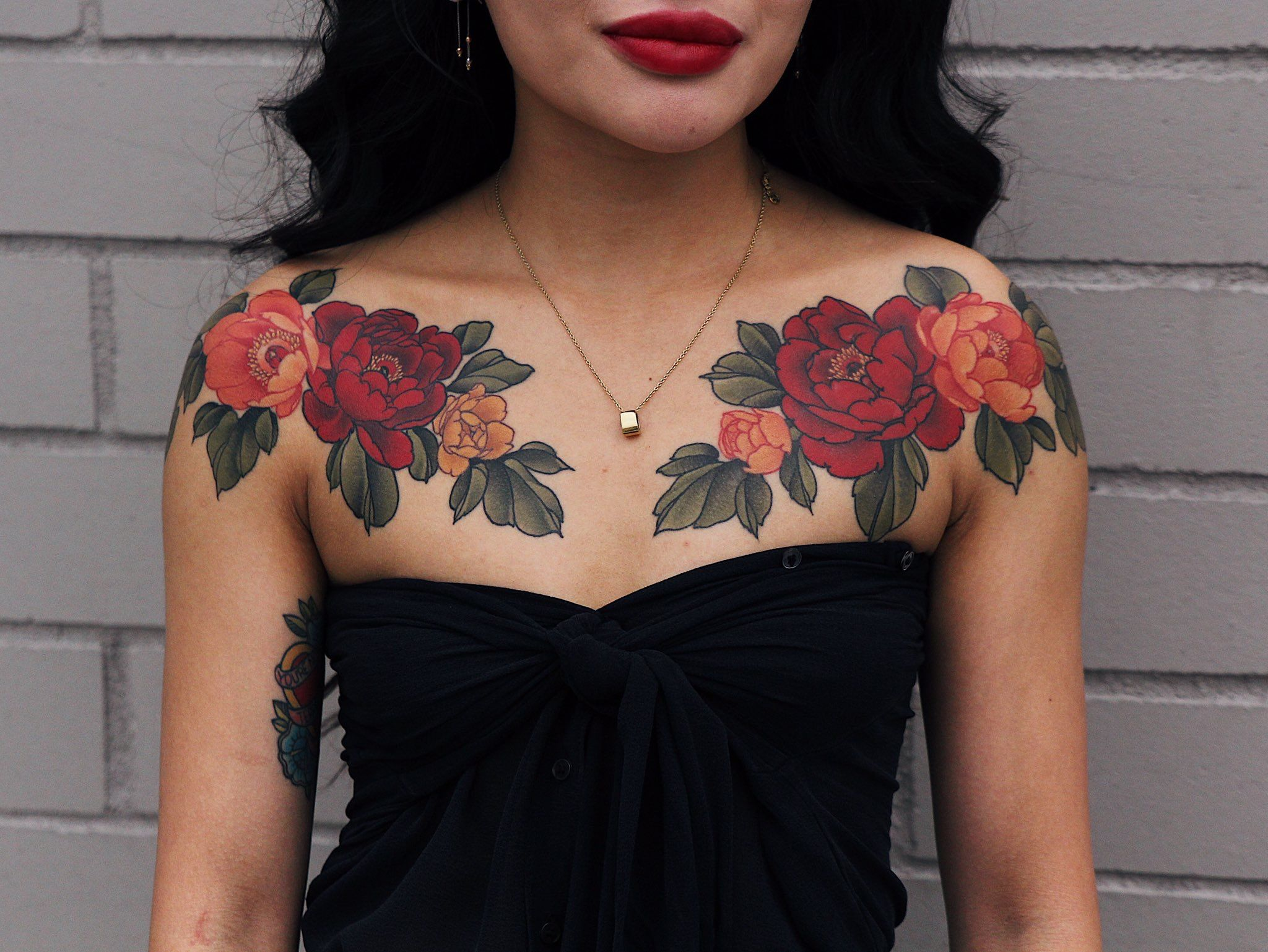 Pin by spacelyft on tattoo stuff Red flower tattoos