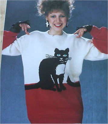 Cat Picture knitted sweater Pattern NEW unused by enathema   Katzen ...