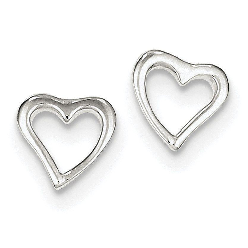 Sterling Silver Heart Post Earrings QE8698