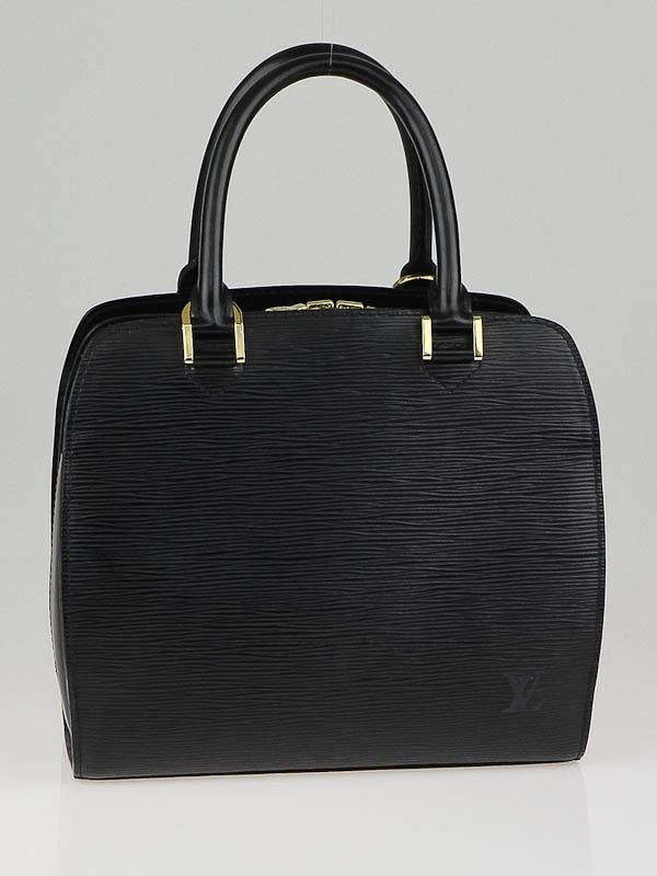 a76755dd59ee Louis Vuitton Black Epi Leather Pont-Neuf PM Bag