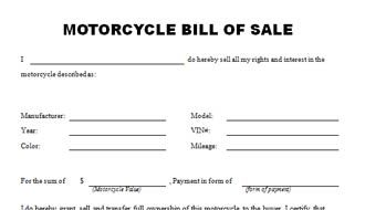 photo about Printable Motorcycle Bill of Sale called Printable Pattern Bike Invoice of Sale Sort Criminal