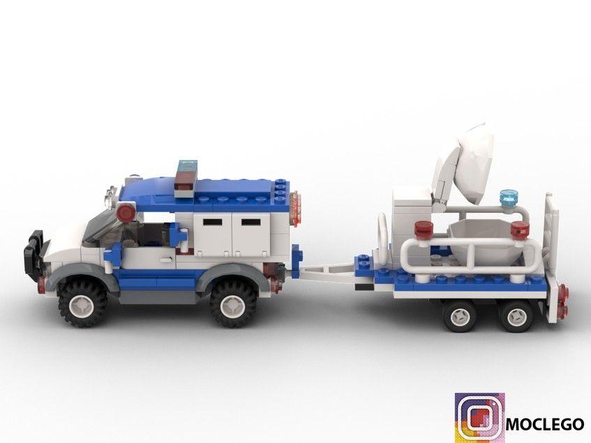 Police Anti Bomb Pick Up Truck Lego City Fire Lego Design Lego Cars