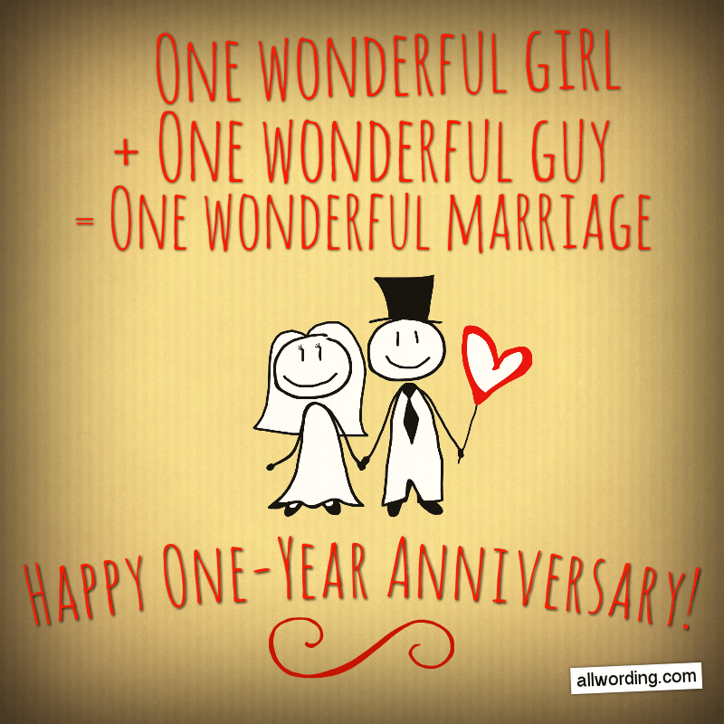 First Anniversary Wishes For A Husband Wife Or Couple Happy First Wedding Anniversary Happy One Year Anniversary First Wedding Anniversary Quotes