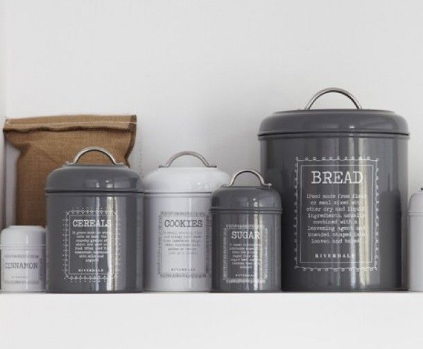 Stoere Keuken Grey : Keuken stoere voorraadpotten voor in de keuken van riverdale