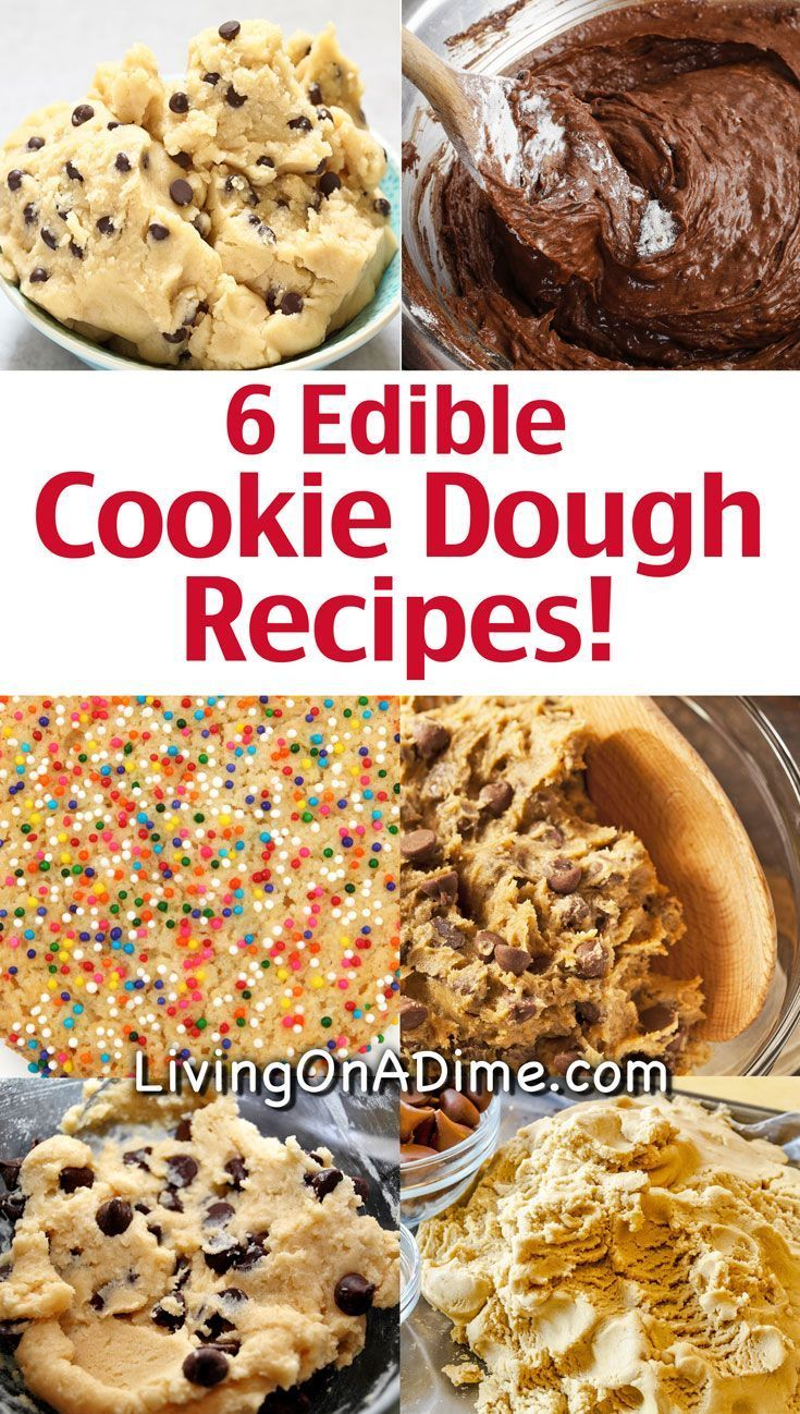 6 Edible Cookie Dough Recipes - Eggless Cookie Dough