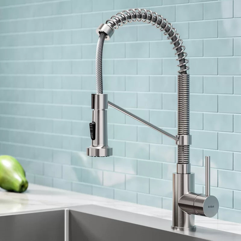 Bolden Pull Down Single Handle Kitchen Faucet with Soap