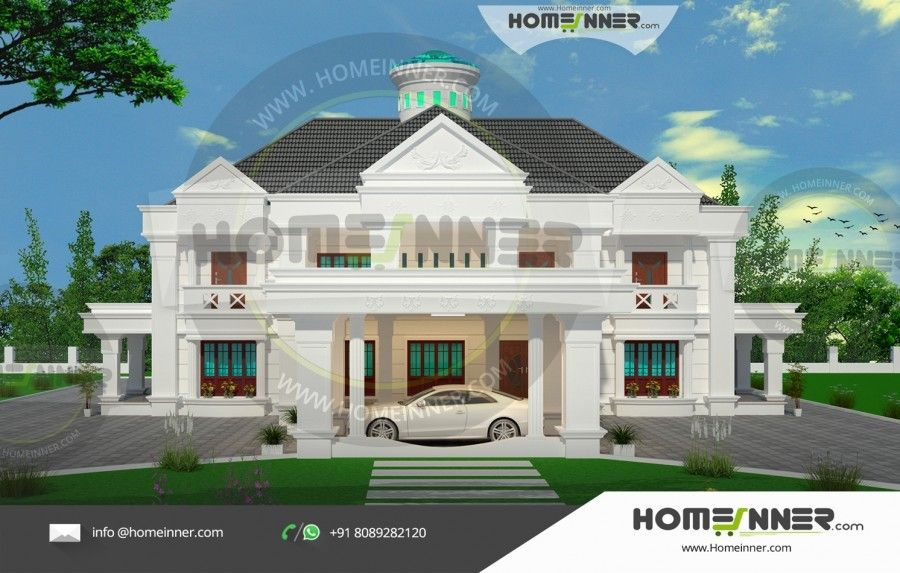 6 Bhk Home Design Part - 25: Colonial 6316 Sq Ft 6 BHK Home Plan Designs