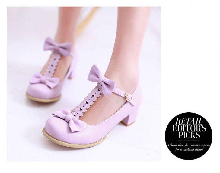 Dulce Lolita zapatos blanco gatito lindo Mary Jane Lolita Paltform zapatos Dp01LR9onr