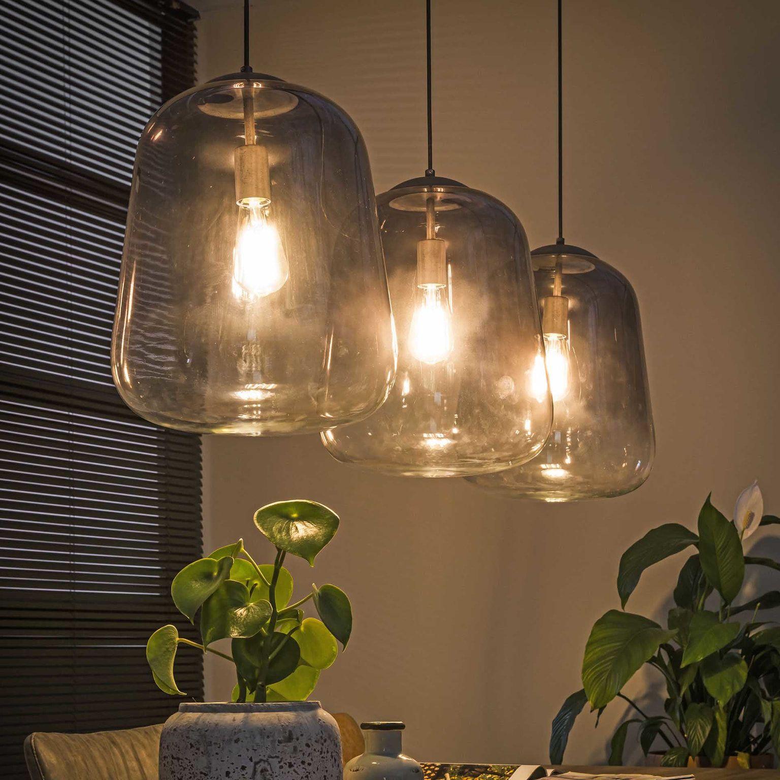 Glazen Hanglamp Gottfried 3 Lamps O32cm Sohome Hanglamp Verlichting Eettafel Verlichting