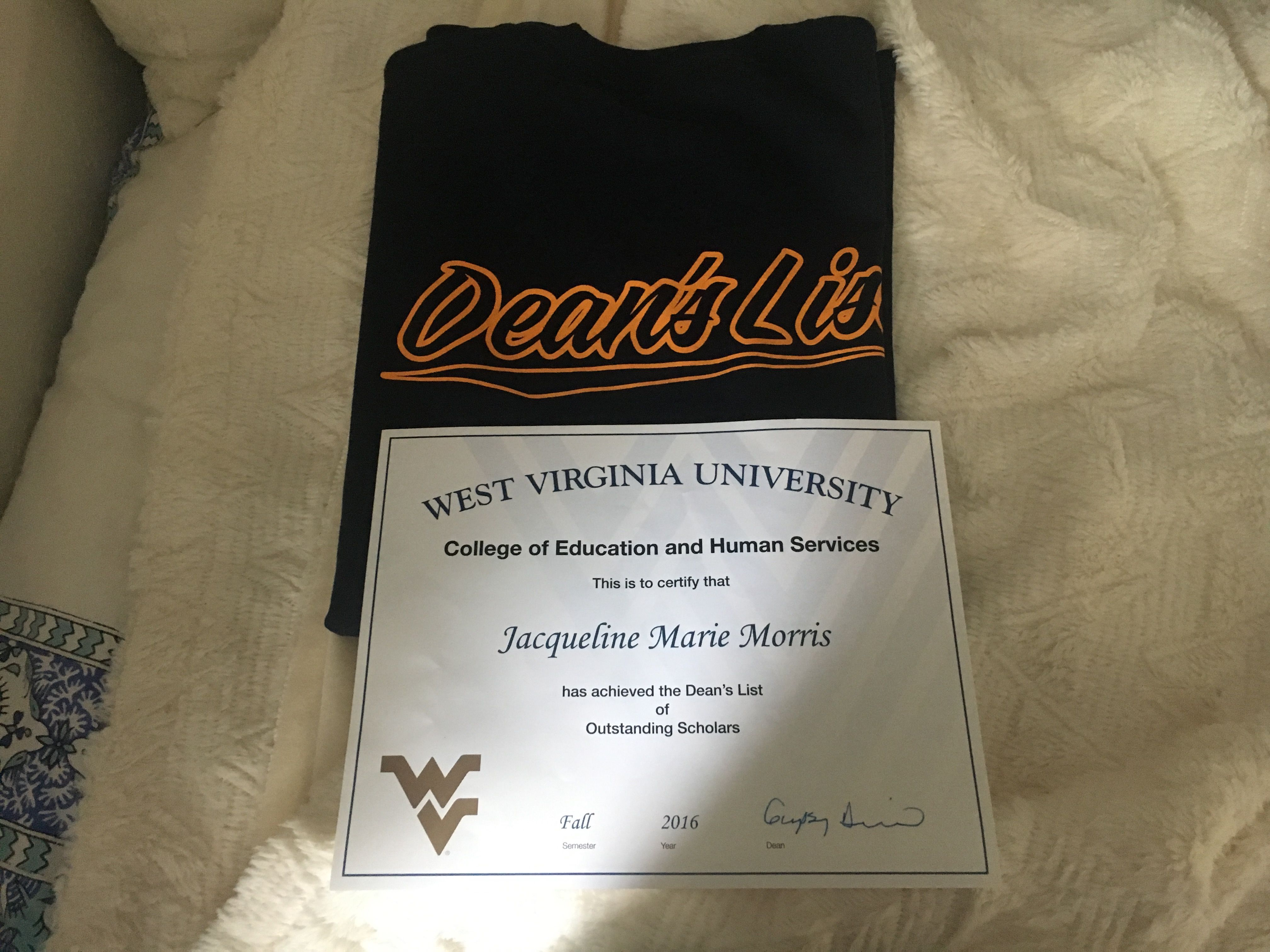 I Received This Award For The College Of Education And