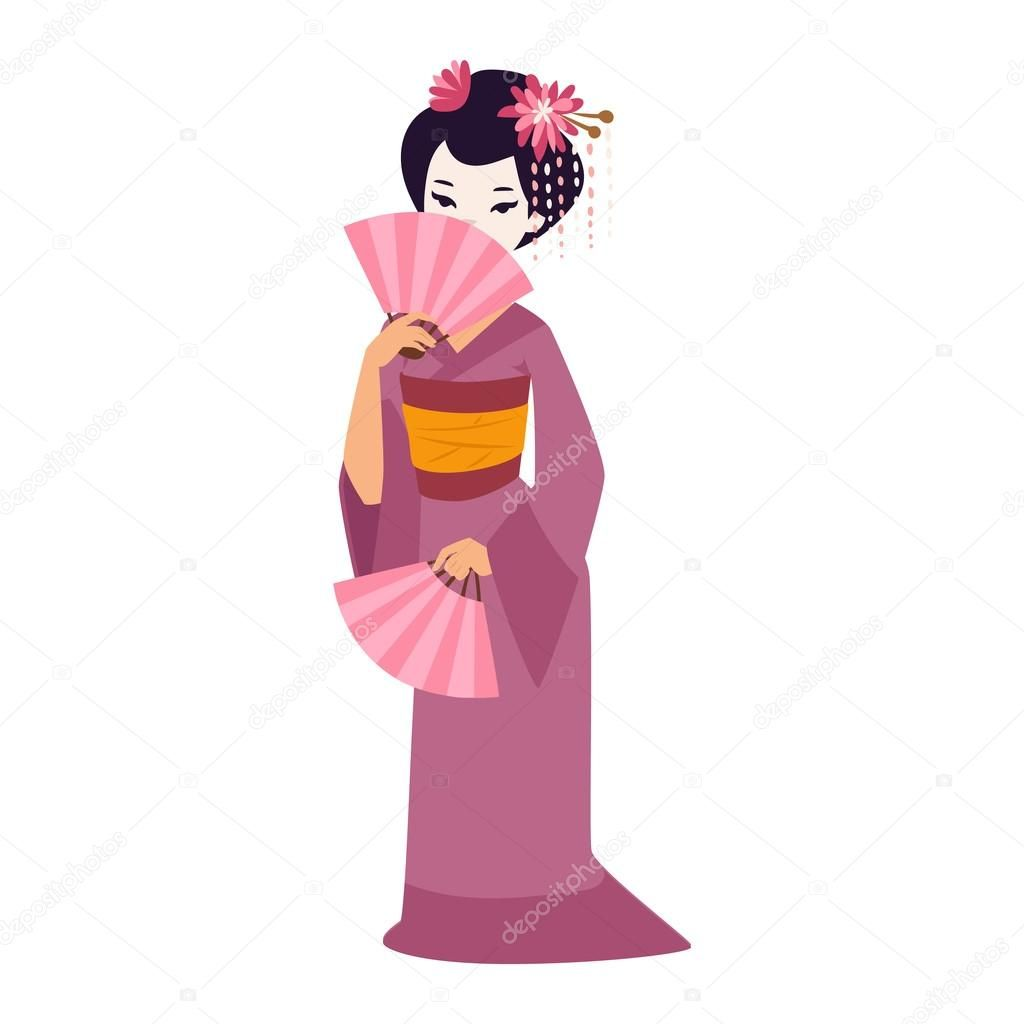 Image result for geisha ilustracion