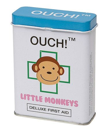 Look what I found on #zulily! Little Monkey Adhesive Bandage Tin - Set of Two #zulilyfinds