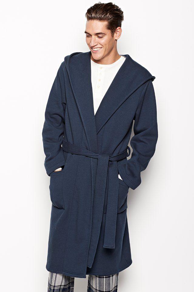 EVERSFIELD HOODED FLEECE DRESSING GOWN | Mens pyjamas | Pinterest