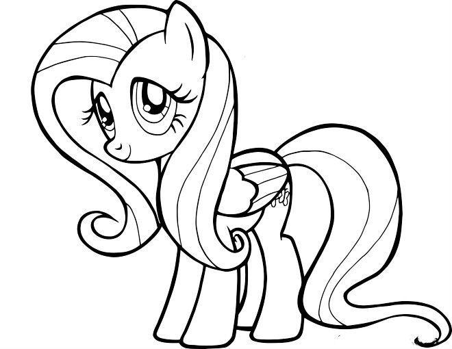 My Little Pony Fluttershy Cute Pose Coloring Pages For Kids Gym Printable My Little Pony Coloring Pages F Ausmalbilder Malvorlage Einhorn Malvorlagen Pferde