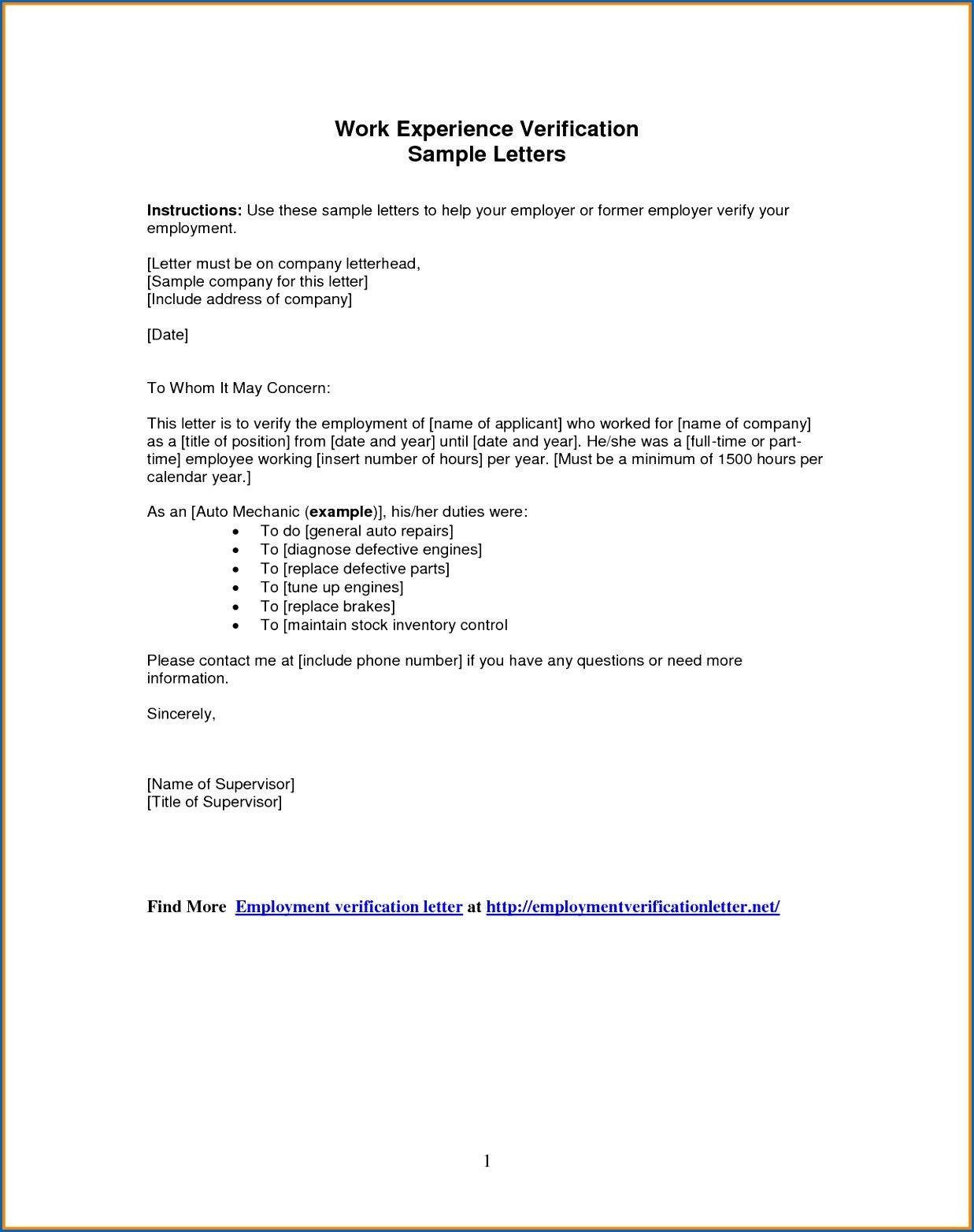 New Letter Format Inspiration Letter Format For Employment Verification New 9 Employers  News To .