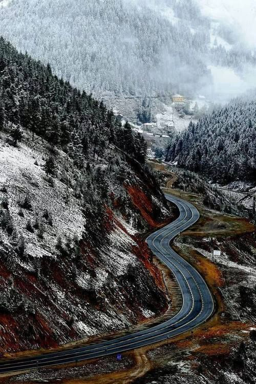 The road to Trabazon . Turkey