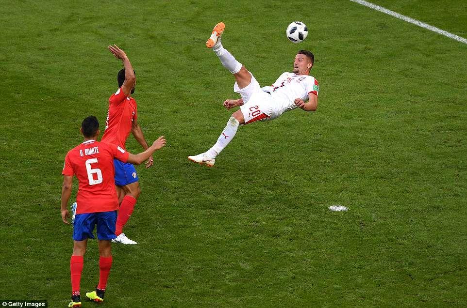 Kolarov Nets Stunning Free Kick To Hand Serbia Victory Over Costa Rica Free Kick World Cup Soccer Tournament