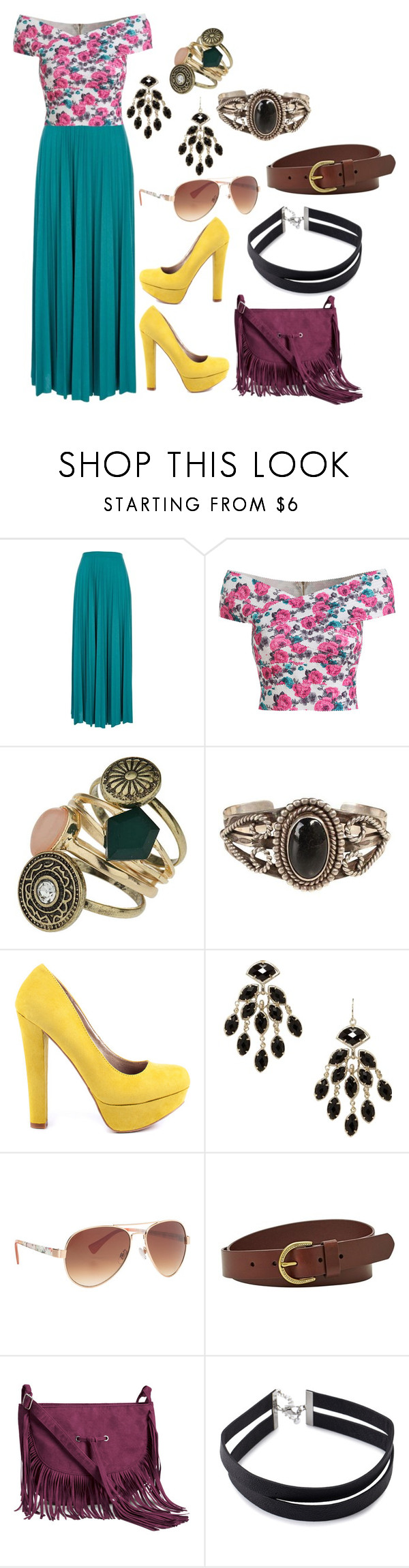 Mix & Match: Summer Outfit #94 by mscody on Polyvore featuring River Island, Veda Soul, H&M, Forever 21, Dorothy Perkins, Kendra Scott, FOSSIL, maurices, Summer and summerstyle