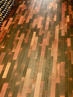 Wine Stained Wood Floor