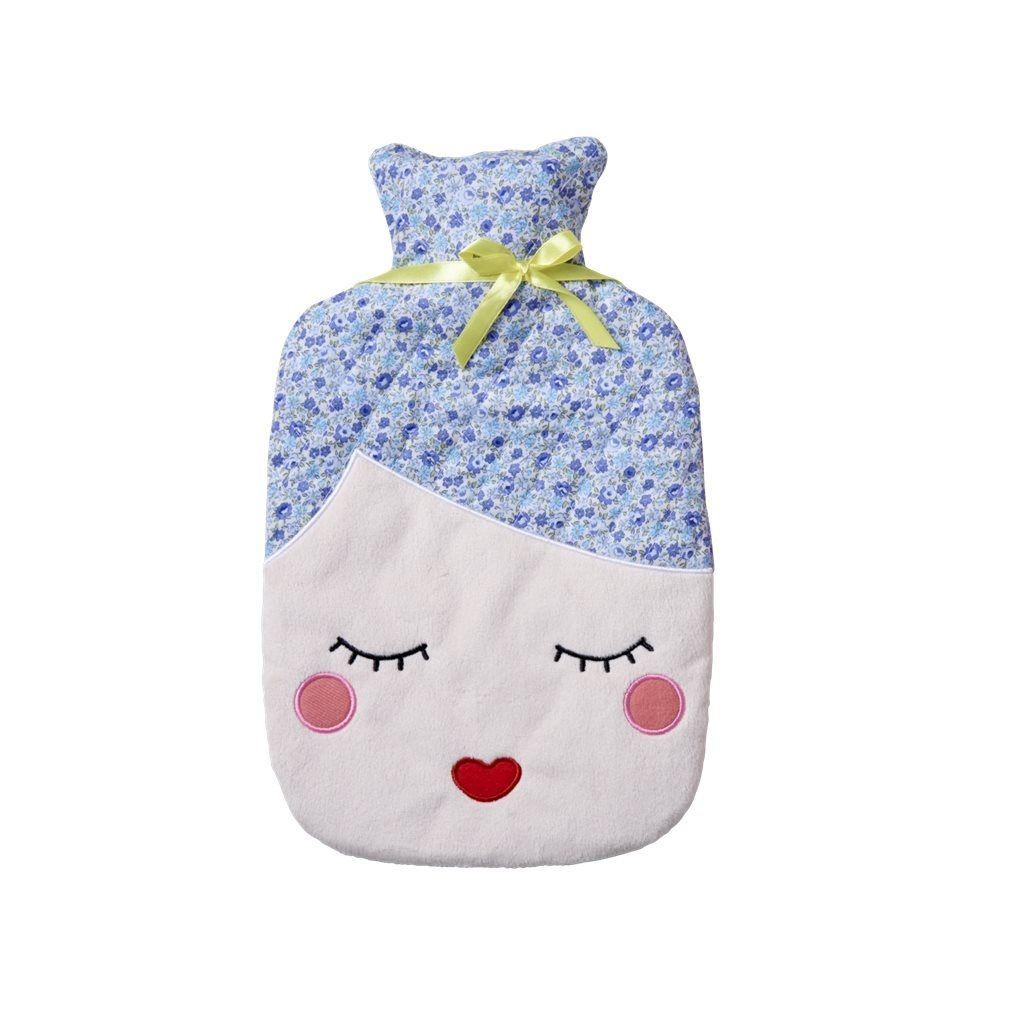 Warmflasche Frauenkopf Blau Warmflasche Warmeflasche Rund Ums Kind