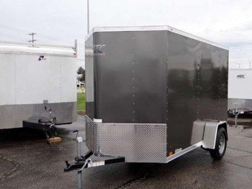 Enclosed Medium Charcoal 6 X 12 Atc Aluminum Trailer Company Cargo Trailer With 2 Nose Wedge A Rear Ramp Door A Trailers That Have Been Sold Alumi