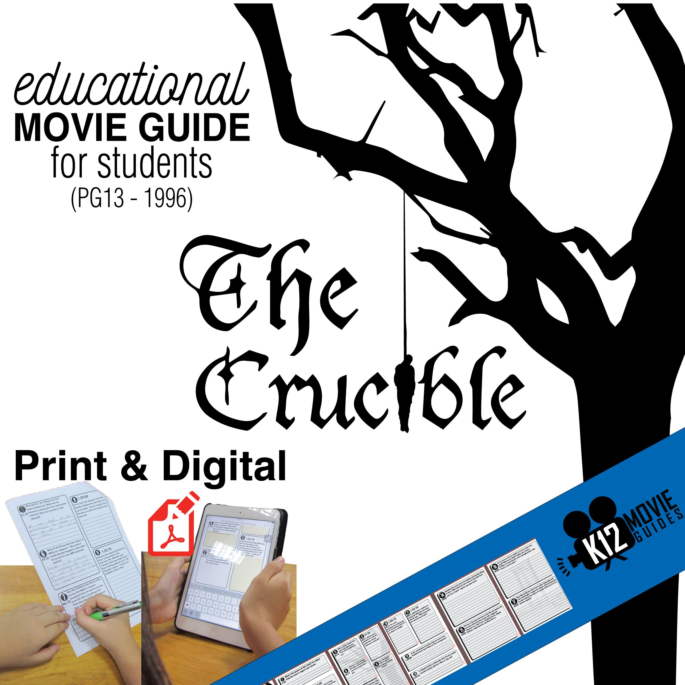 The Crucible Movie Guide Questions Worksheet Pg13