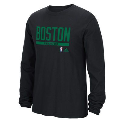 buy online 7a24b c52f1 Men's Boston Celtics adidas Black Cut and Paste Long Sleeve ...