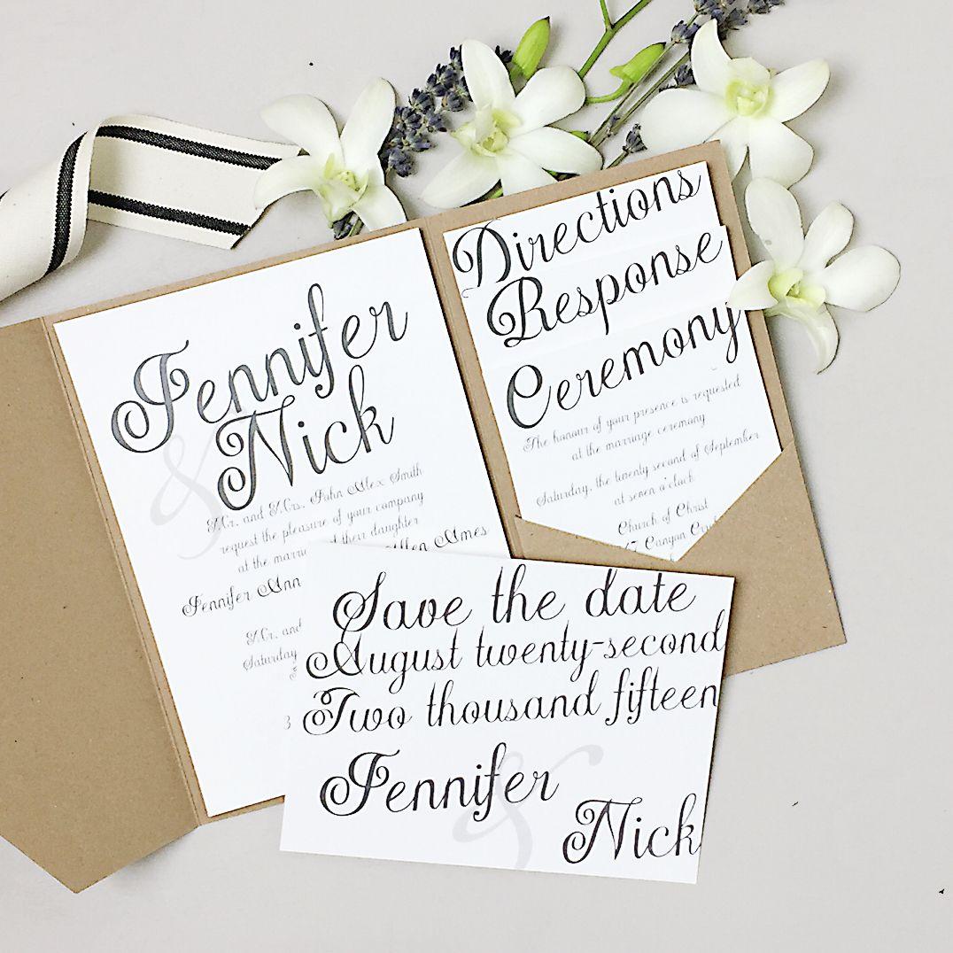 The Plain Elegance wedding invite is super trendy, stylish, and ...