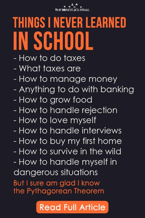 10 Essential Life Lessons We are Not Taught in School