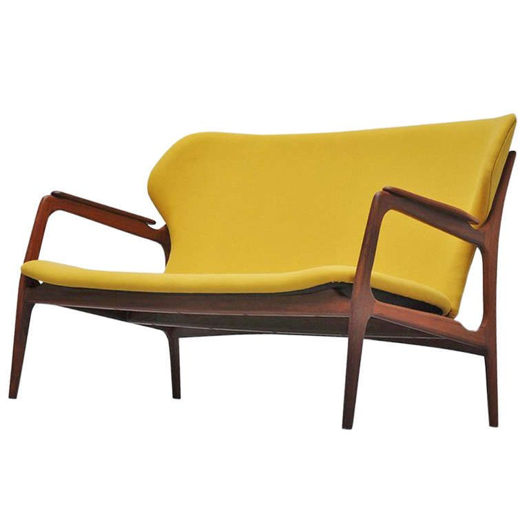 Best Danish Lounge Sofa In Yellow Upholstery 1960 From A 400 x 300