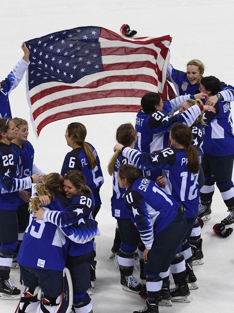 U.S. women end Canada's streak to win hockey gold in