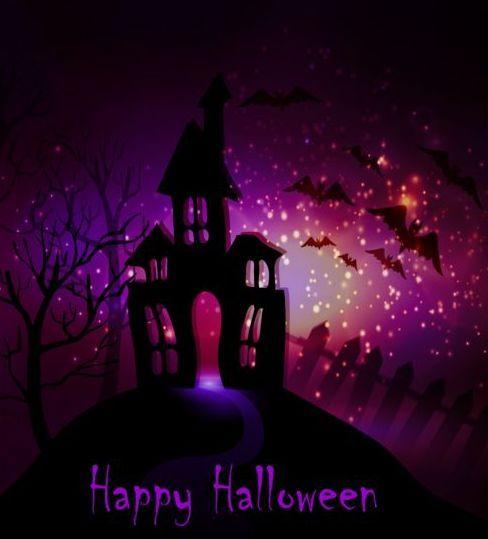 Creative halloween haunted house design vector 06 card ideas 23 - halloween haunted house ideas