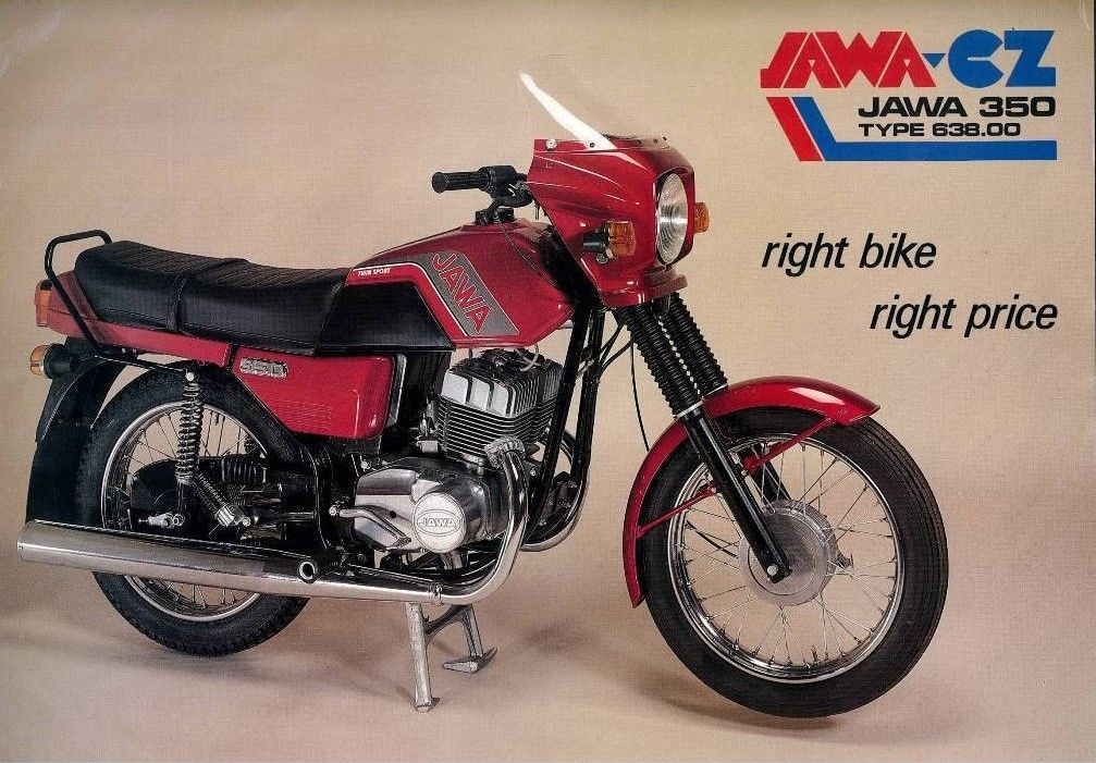 Jawa 350 638 Ad Motorcycle Illustration Classic Bikes Bike