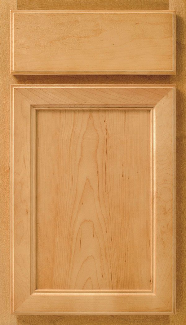 Avalon flat panel cabinet doors are available in Cherry or Maple