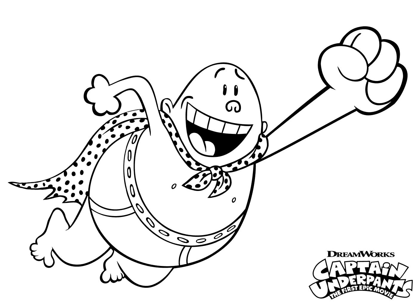 Capt Underpants Coloring Pages Captain Underpants Superhero Coloring Pages Cartoon Coloring Pages