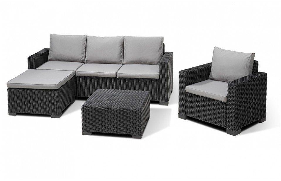 Moorea Garden Lounge Set In Graphite Corner Sofa Table Furniture Outdoor Furniture Sets