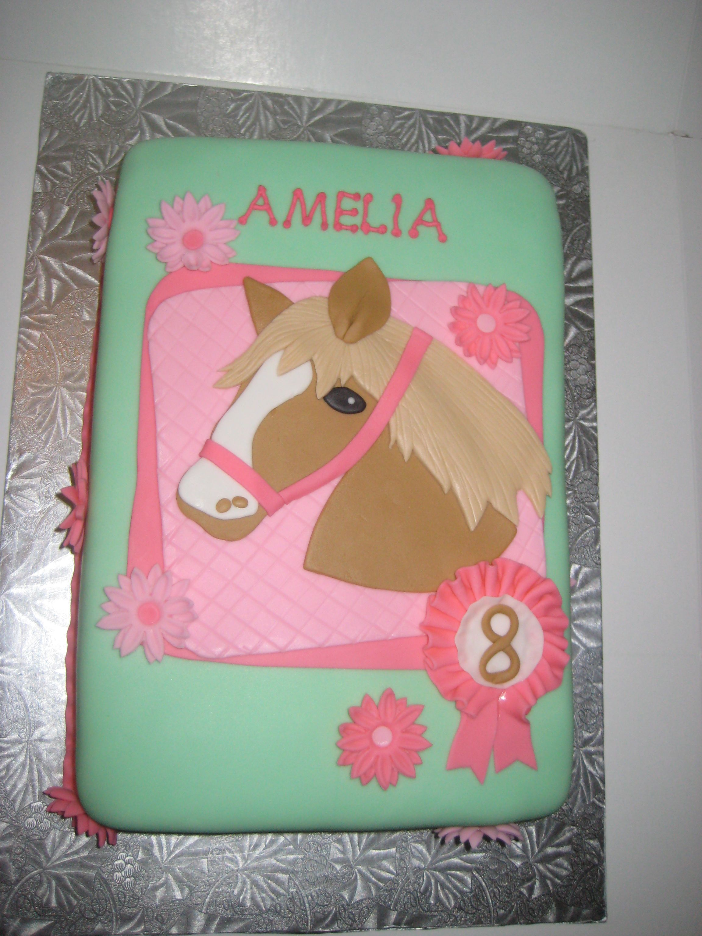 Horse Cakes For Girls Birthday Horse Themed Birthday Cake - Horse themed birthday cakes