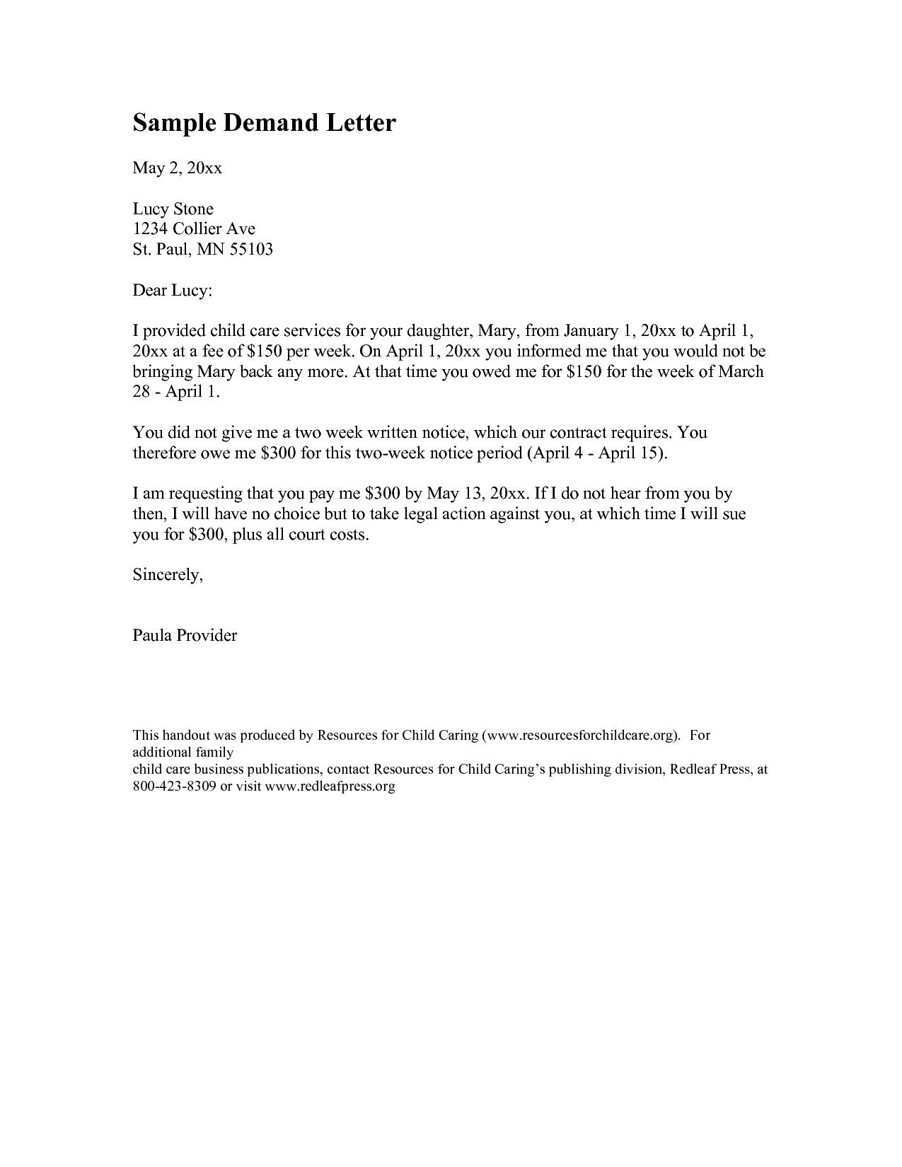 Best Images Week Notice Template From Time Full Demand Letter